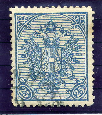 BOSNIA & HERZEGOVINA 1900 Arms 25 H. on ribbed paper