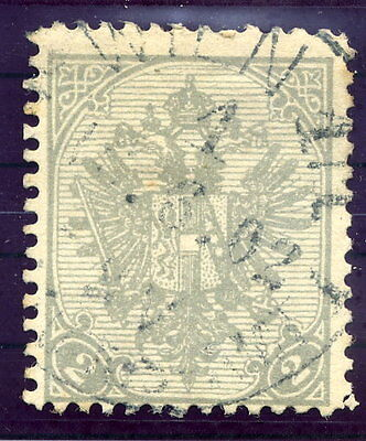 BOSNIA & HERZEGOVINA 1900 Arms 2 H. on ribbed paper