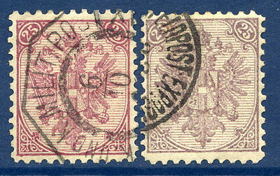 BOSNIA & HERZEGOVINA 1890-94 Arms 25 H.  perforated 11½  in both shades