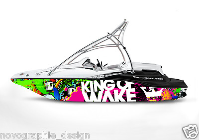 Lbrk Graphic Kit Decal Boat Sportster Sea Doo Speedster Sport Wrap King Of Wake