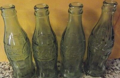 Lot of 4 Vintage Coca-Cola Bottles 2 Lebanon MO 1 New Orleans LA 1 no city mark