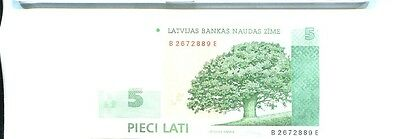 Latvia 2009 Lati Currency Note Choice Cu 3145J