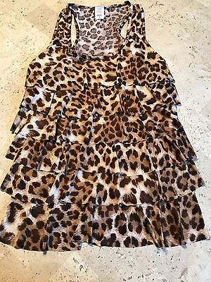 Super Cute Body Central Leopard Print Racerback Tank Size M