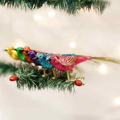 Set of 6 Lovebirds Old World Christmas Tree Ornament New with tags
