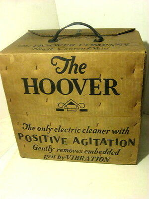 Antique Hoover Electric Vacuum Cleaner Delivery Case Box Only Cardboard Salesman