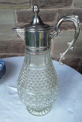 Glass and silver plate Claret Jug