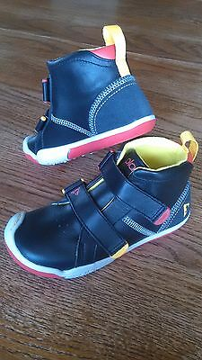 Kids Plae Max Stylish Black Leather Velcro High Top Shoes Sneakers Size 12 Boys
