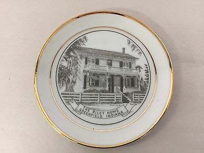 """The Riley Home Greenfield, Indiana Limited Edition 4"""" Collectors Plate"""
