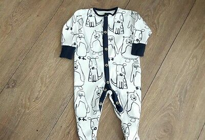 Baby Boys Next Sleepsuit  Age 3-6 Months