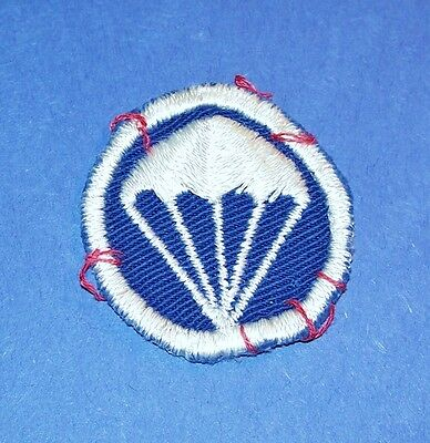 Original Small Twill Ww2 Airborne Paratrooper Infantry Cap Patch (Glows)