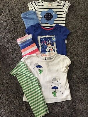 Gymboree Lot Baby Girl 12 18 Months Tops Leggings