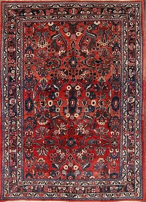 "Antique All-Over Floral 7x10 Hamadan Persian Oriental Area Rug 10' 3"" x 7' 3"""
