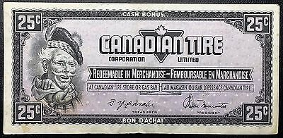 Vintage 1974 Canadian Tire 25 Cents Note ***Great Condition*** Free Combined S/H