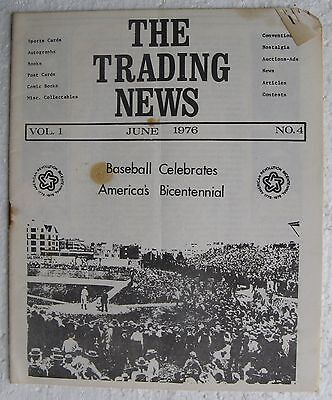June 1976 issue of THE TRADING NEWS (sports cards etc) T207 Baseball Article