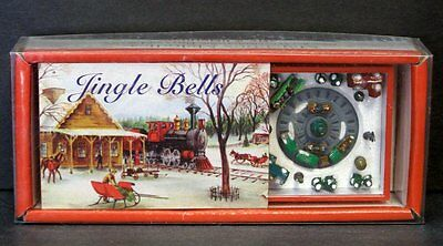 MATCHBOX MELODIES Mr. Christmas JINGLE BELLS Animated TRAIN Wind-Up Music Box