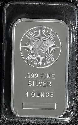 Sunshine Mint Silver Bar - 1 Oz .999 Fine Silver