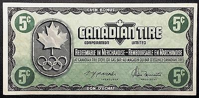 Vintage 1976 Canadian Tire 5 Cents Note - EF/AU Condition - Free Combined S/H