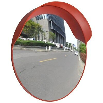 "S# 60cm 24"" Traffic Safety Outdoor Mirror Convex Security Wall Pole Dome Plastic"