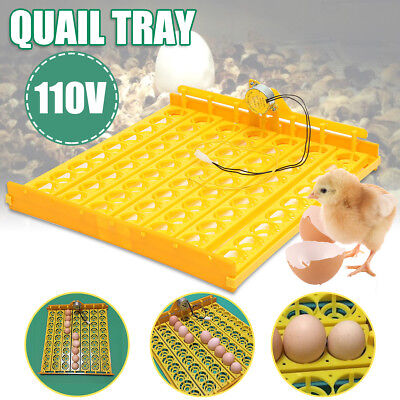 63 Eggs Automatic Incubator Hatch Turner Chicken Duck Quail Bird Poultry Tray