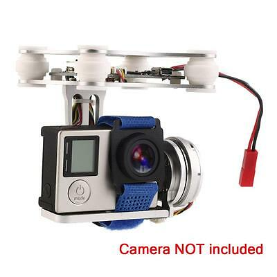 Silver FPV 2 Axle Brushless Gimbal With Controller For DJI Phantom GoPro 3 4 MC~