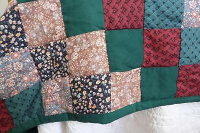 Country Cottage Single Cotton Vintage Patchwork Bedspread  190x260cm