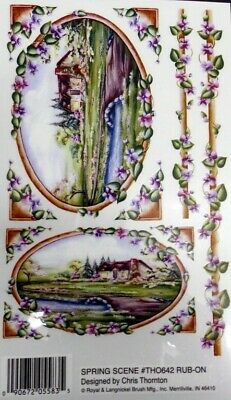 Beautiful *SPRING SCENE* Royal & Langnickel Rub-ons - Scrapbooking/Cardmaking