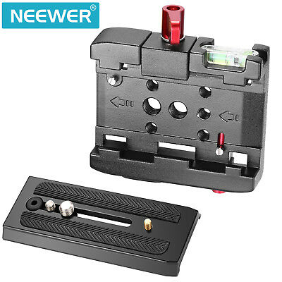 "Neewer Quick Release Plate Adapter with 1/4"" 3/8"" Screw for Camera and Tripod"