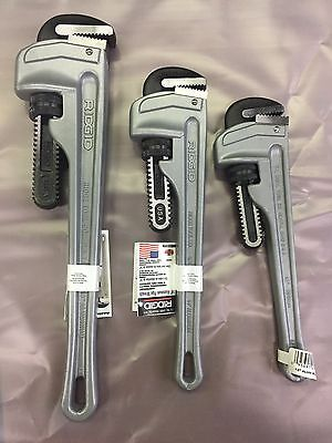 """Ridgid 12"""",14"""",and 18"""" Aluminum Handle Pipe Wrench"""