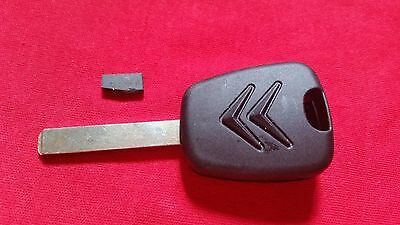Citroen Transponder Key Fob Hu83 Key Blade With A Groove