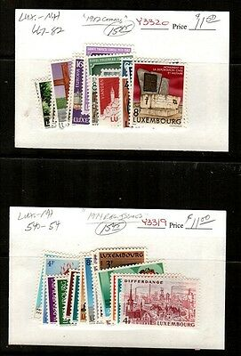 Luxembourg Scott 540-554, 667-682 Mint NH (1974 and 1982 Commemoratives)