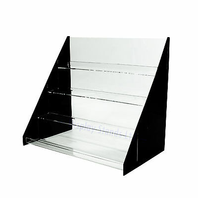 Black Acrylic 4 Tiered 400mm Card Display (DS42/400B)