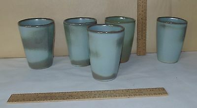 5 FRANKOMA 5L marked TUMBLERS - Red Clay - Four matching - One different shade