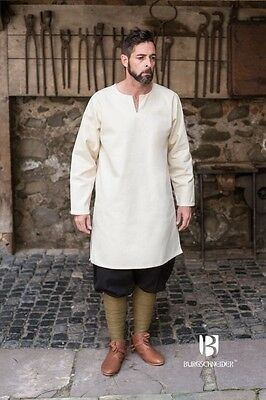Medieval Undertunic Leif Natural Larp SCA Cosplay Size M UK Stock