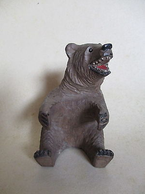 Hand Carved Wooden Bear - Black Forest??