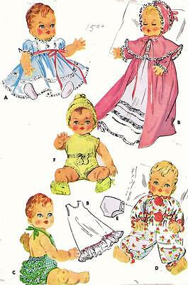 Vintage Doll Clothes PATTERN 2001 for 11-12  inch Tiny Tears Dydee Betsy Wetsy