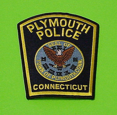 Plymouth  Connecticut  Ct   Police Patch   Free Shipping!!!