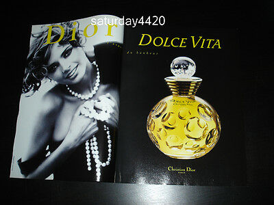 Vintage DIOR Fragrances 2-Pg Magazine Print Ad 1995 HEATHER STEWART-WHYTE