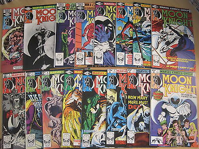 MOON KNIGHT Vol 1 : COMPLETE RUN of ISSUES 1 - 29.SIENKIEWICZ.MARVEL 1980 series