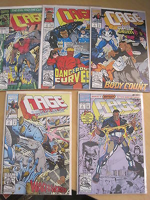 ( LUKE ) CAGE  : COMPLETE RUN 1,2,3,4,5 by McLAURIN & TURNER. MARVEL 1992 series