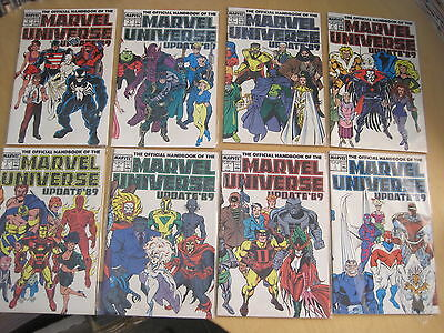 Official Handbook of MARVEL UNIVERSE, UPDATE '89 : COMPLETE 8 ISSUE 1989 SERIES