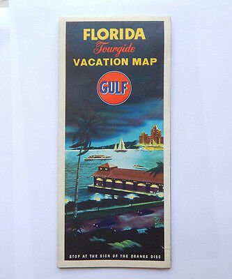 Florida Tourgide Vacation Pictorial Map by Gulf Oil (1950) [18x40]