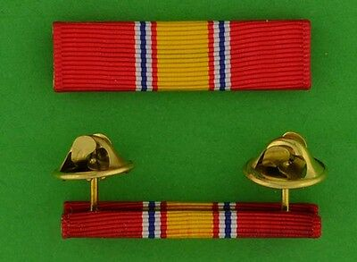 Mounted National Defense Service Ribbon Bar Vietnam War Era Veteran - Korean War