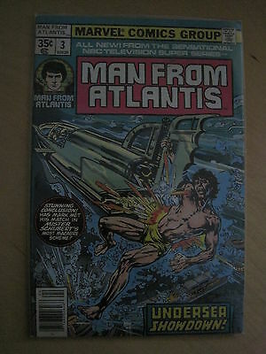 MAN FROM ATLANTIS : issue 3. CLASSIC 70's TV SHOW.  MARVEL 1978 SERIES