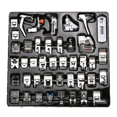 42Pcs Domestic Sewing Machine Presser Foot Feet Set For Brother Singer Household
