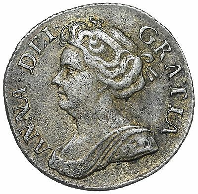 1711 Sixpence - Anne British Silver Coin - V Nice