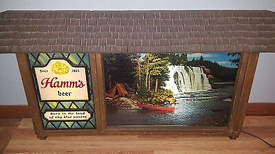 VTG 1960s Hamm's beer on tap scene o rama motion moving waterfall light up sign