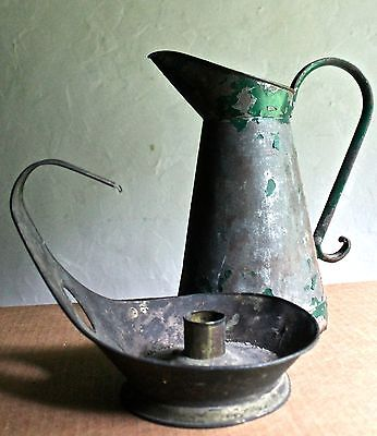 Christopher Dresser (Attr.)Candlestick + Pitcher,  Perry And Sons