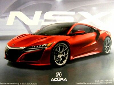 2015 2016 Acura NSX Auto Show Hero Card Brochure, MINT w Sleeve