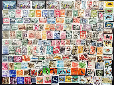 Collection Of Stamps From Ecuador