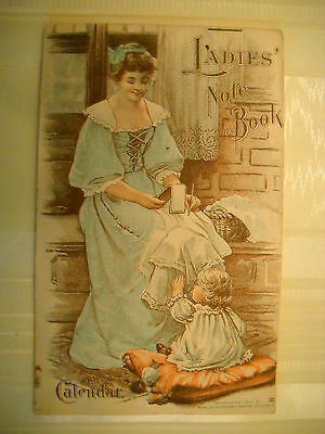 DR. PIERCE'S LADIES 34pg NOTE-BOOK antique 1900 Calendar LITHO mother BUFFALO NY